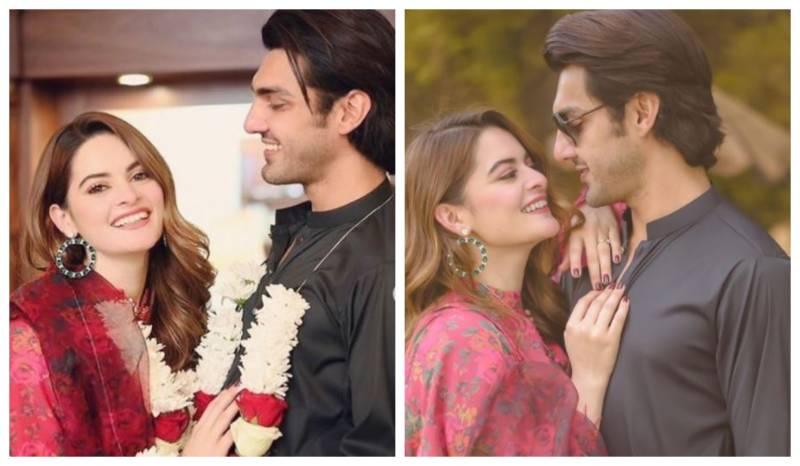 Minal Khan shares Baat Pakki pics with fiance Ahsan Mohsin Ikram
