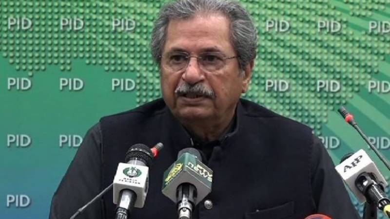 Education Minister Shafqat Mahmood returns to work after recovering from Covid-19