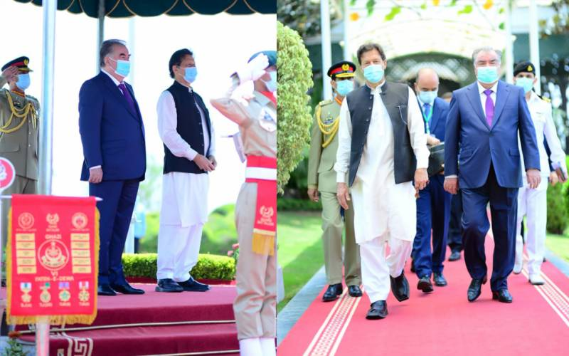 PM Imran, Tajik president Rahmon discuss ways to cement ties (VIDEO)