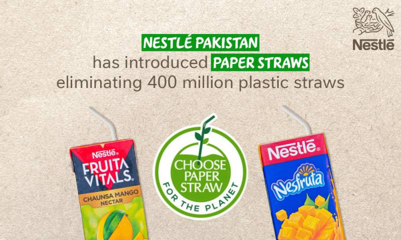Nestlé Pakistan introduces paper straws: eliminating 400 million plastic straws