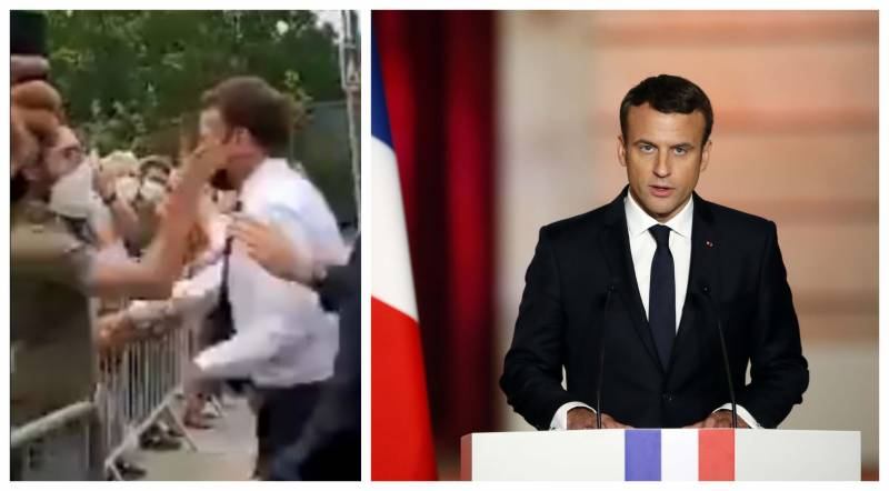 Man slaps French President Macron in the face (VIDEO)