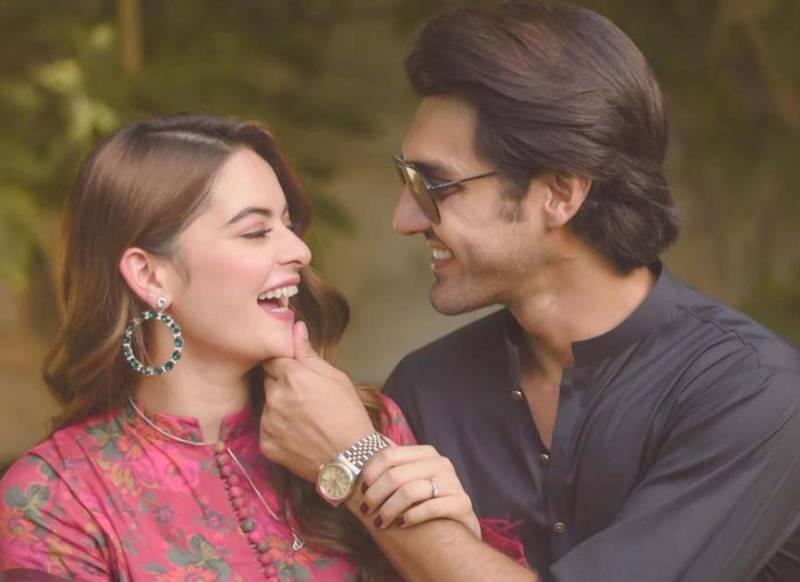 Minal Khan and Ahsan Mohsin Ikram drop first look of their wedding card