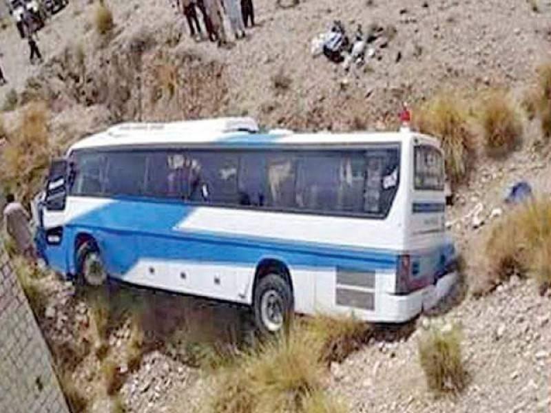 18 killed as passenger bus overturns in Khuzdar