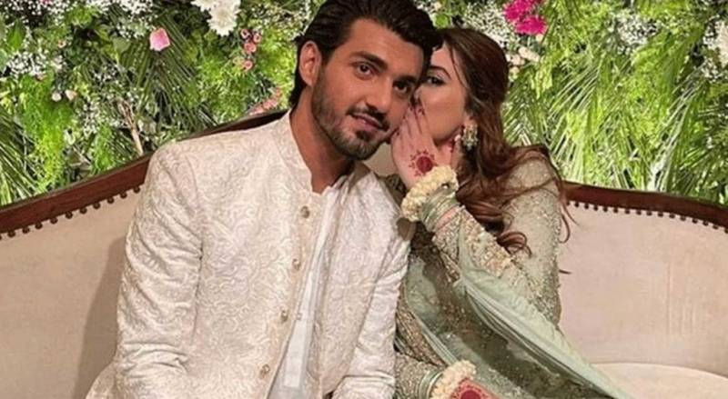 Minal Khan, Ahsan Mohsin look fabulous at 'official' engagement ceremony
