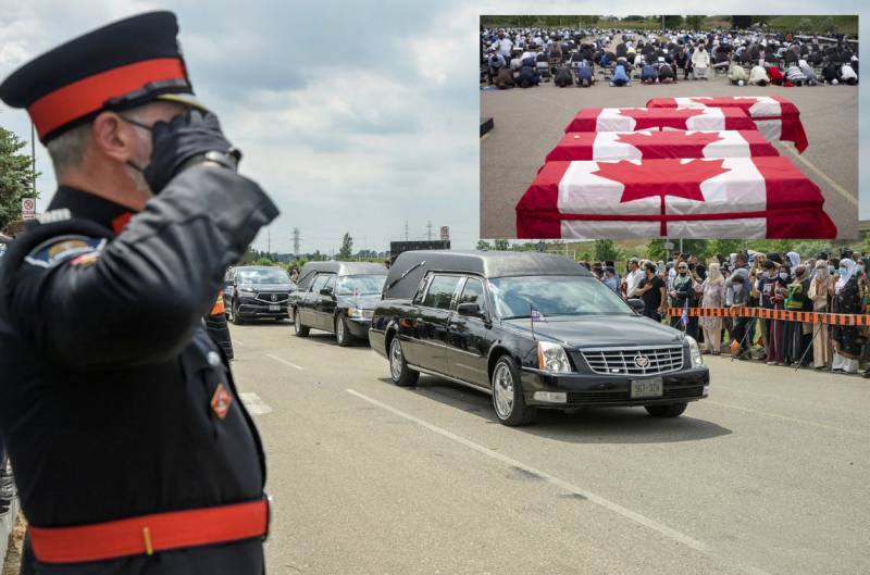 Pakistani family killed in Canada's Islamophobic attack laid to rest (VIDEO)