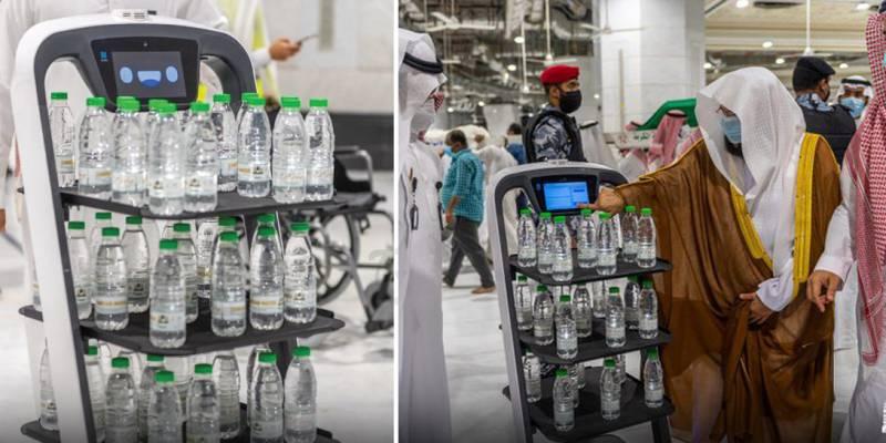 Watch - Saudi Arabia introduces robots to distribute Zamzam water at Makkah, Madina mosques