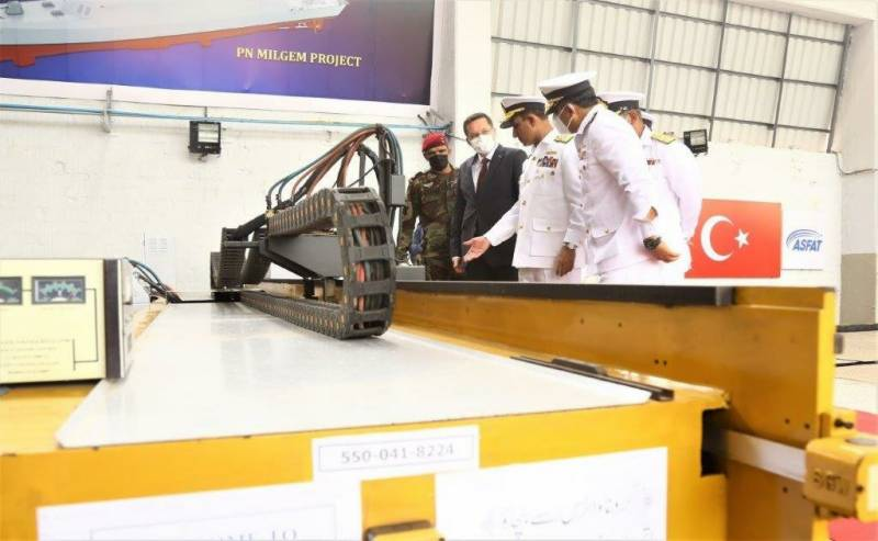Pakistan cuts steel for fourth MILGEM-Class corvette ship (VIDEO)