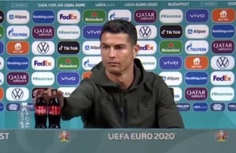 Coca Cola loses billions as Cristiano Ronaldo snubs drink at Euro 2020 presser