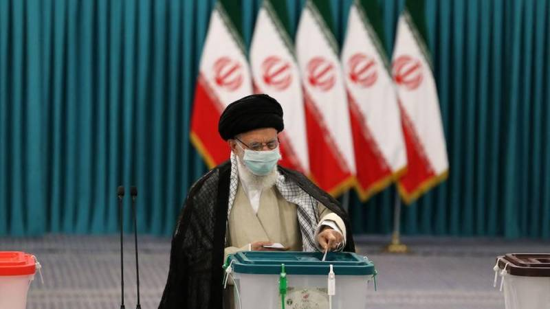Khamenei casts vote as Iran elects new president