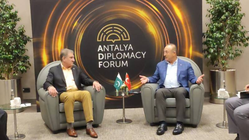 Pakistan's FM Qureshi congratulates Turkish counterpart for successful Antalya Diplomacy Forum