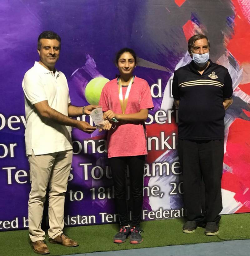 Triple crowns for Amna Qayum in 2nd PTF Junior National Ranking TennisTournament