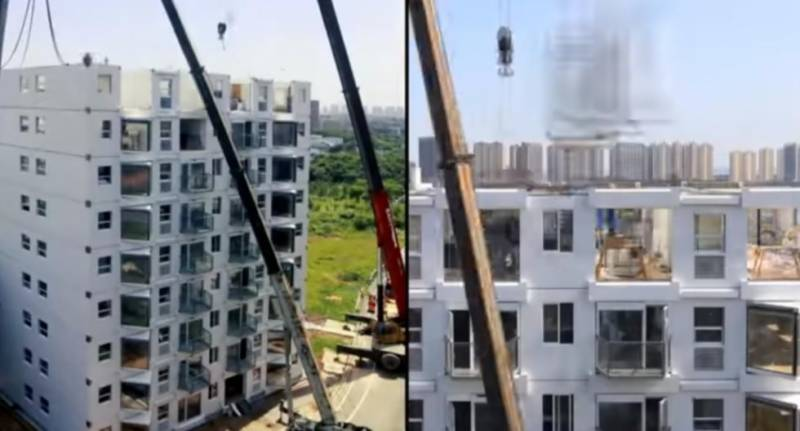 Chinese builders construct 10-storey building within 29 hours (VIDEO)