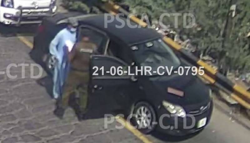 Picture of car used in Lahore bombing surfaces