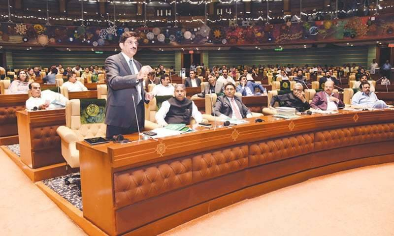 Sindh Assembly approves Budget 2021-22 amid protest