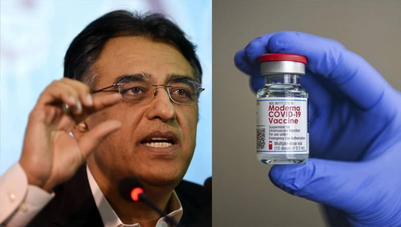 Citizens travelling aboard to get Moderna vaccine: Asad Umar