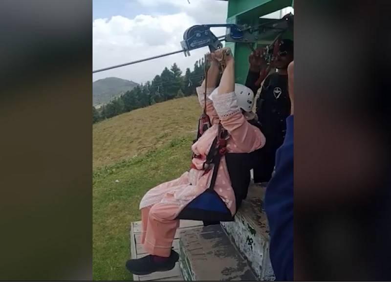 Marriyum's video of enjoying Malam Jabba zip line goes viral