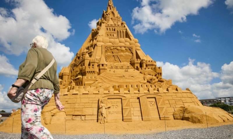 World's tallest sandcastle erected In Denmark