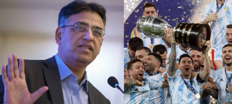 Asad Umar all praise for Messi for leading Argentina to victory in Copa America final