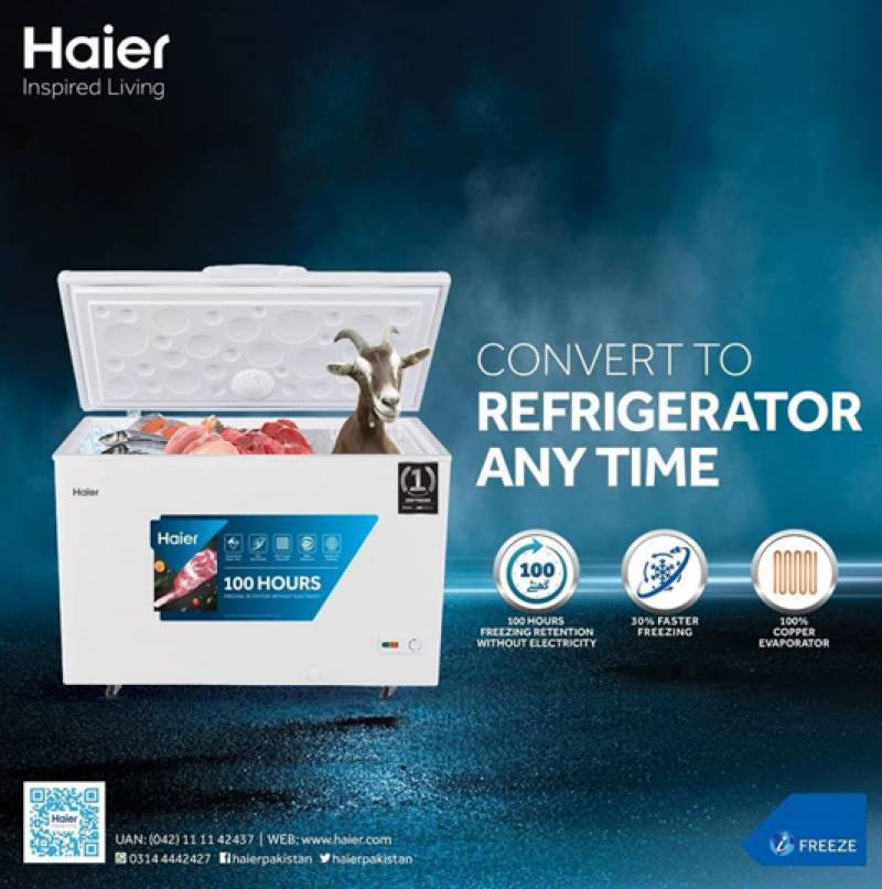 Haier Deep Freezer converts to Refrigerator anytime