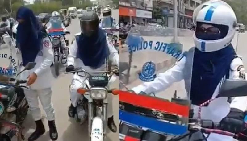 Karachi streets greet first female traffic wardens (VIDEO)