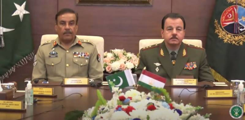 Tajik defence minister, CJCSC Gen. Nadeem Raza, discuss bilateral ties (VIDEO)
