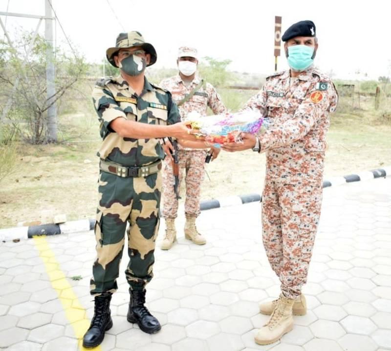 Pakistan, India border forces exchange sweets on Eid Al Adha