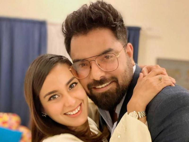 Iqra Aziz, Yasir Hussain share adorable clicks with their firstborn