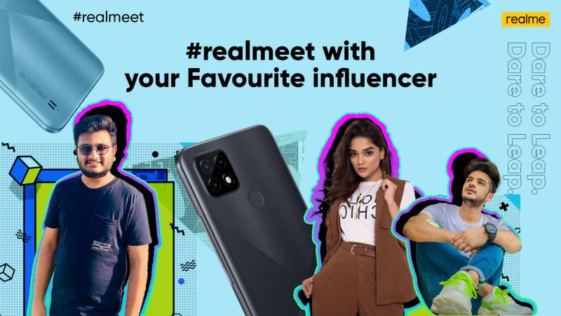 realmeet — take a chance with realme C21 to meet your favourite stars