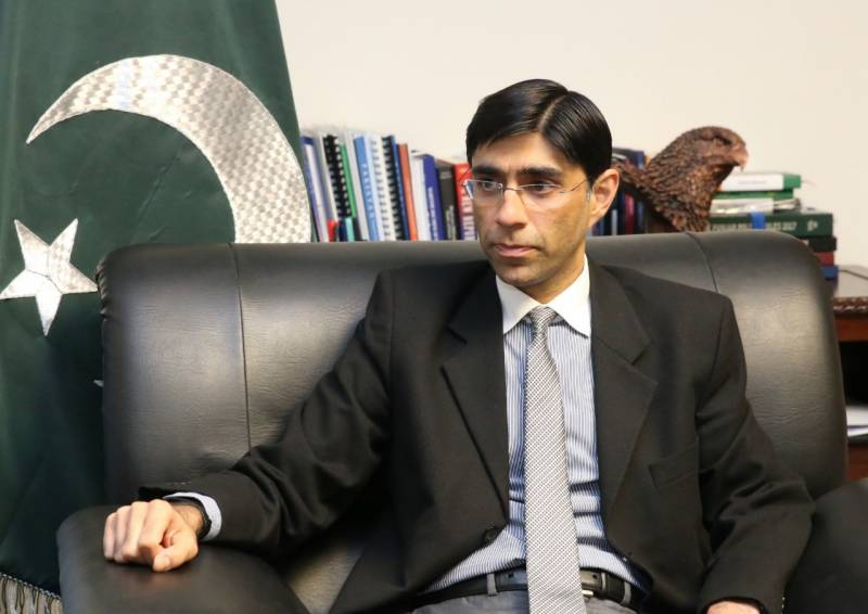 Pakistan's NSA Moeed Yusuf leaves for US