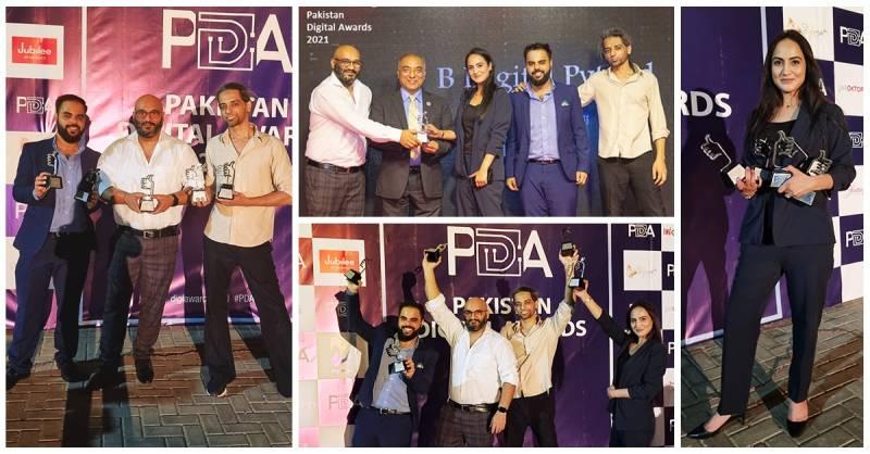 BDigital sweeps 5 awards at PDA - Pakistan Digital Awards 2021