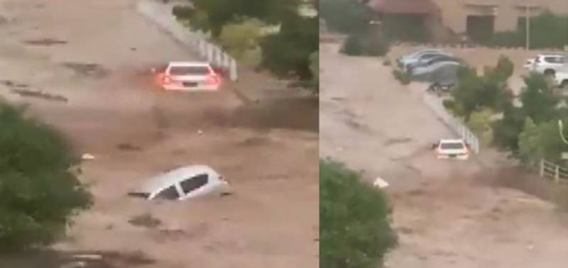 WATCH: Several cars swept away as cloudburst triggers flash flood in Islamabad