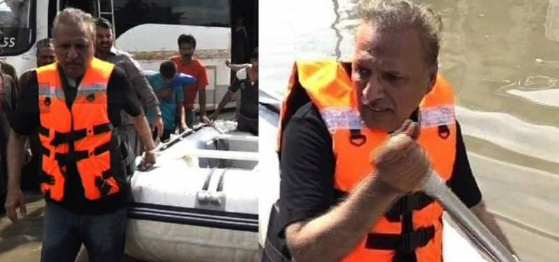 'President Alvi all set to rescue flood-hit affectees in his boat'
