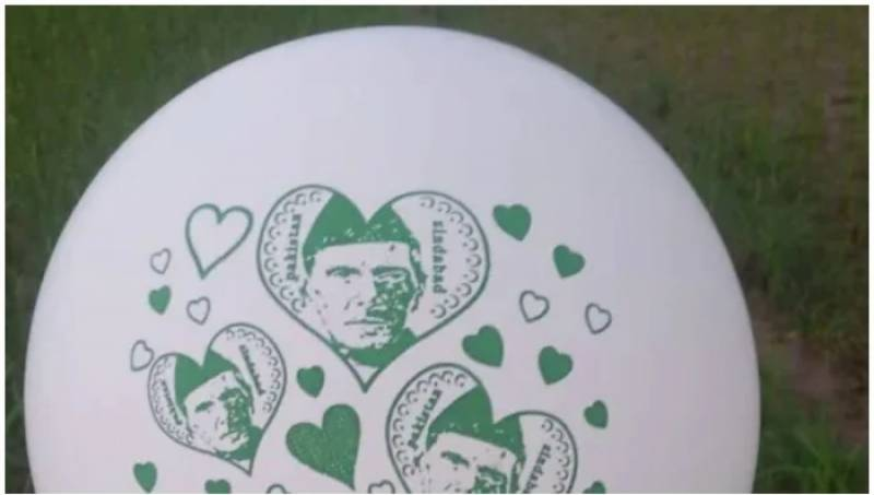 Balloon with Quaid-e-Azam's pictures panics Indian officials in occupied Kashmir