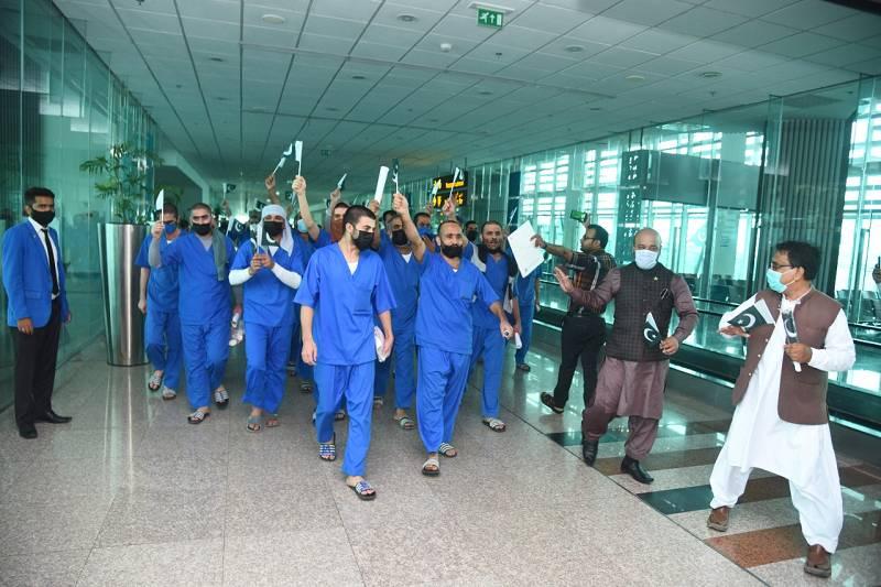 28 Pakistani prisoners repatriated from Saudi Arabia