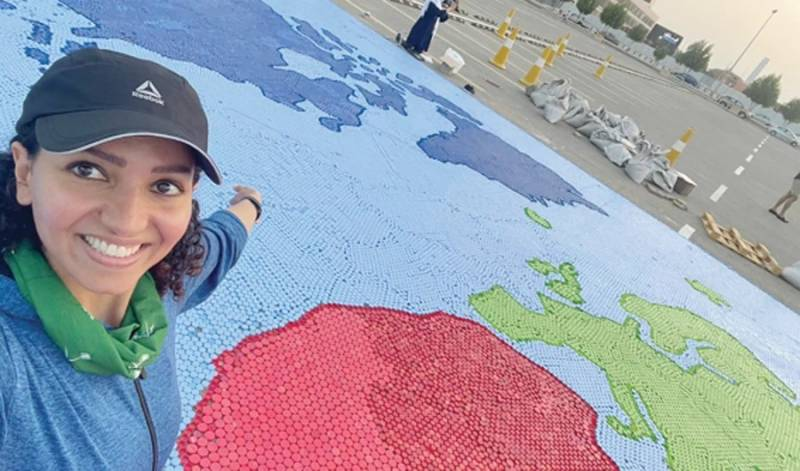 Saudi woman uses water bottle caps to set new Guinness World Record