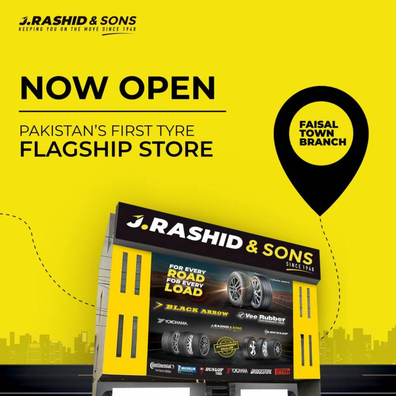 J.Rashid & Sons opens Pakistan's first tyre flagship store in Lahore