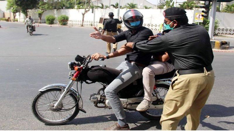 Pillion riding banned in Karachi on Ashura