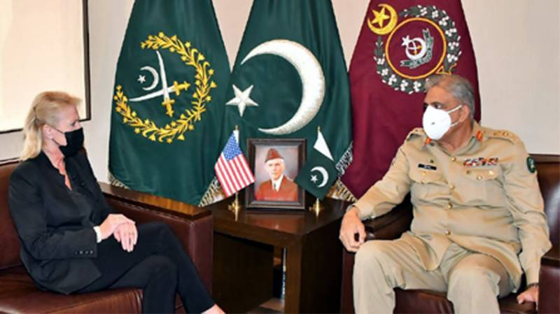 US diplomat calls on Pakistan Army chief to appreciate support for Afghan peace process