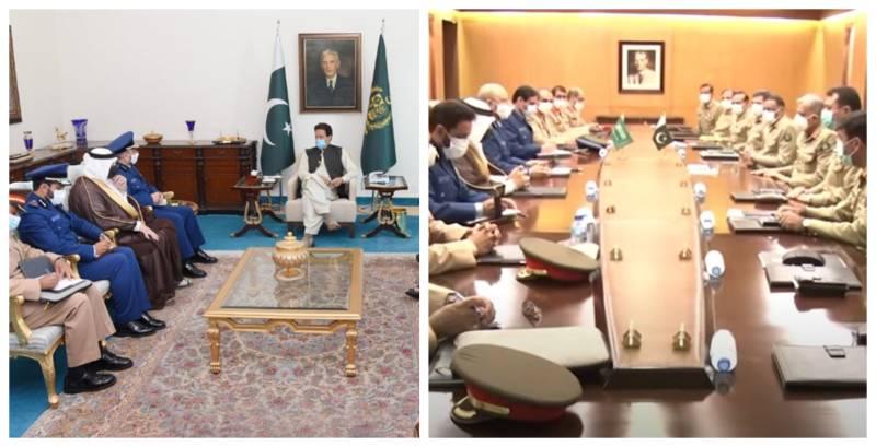 Saudi military delegation meets PM Imran, COAS Bajwa