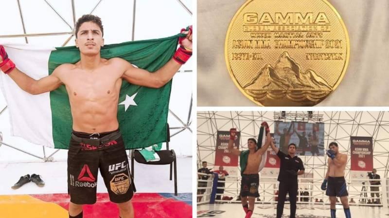 Pakistan's Shahzaib Khan secures gold at Asian MMA Championship