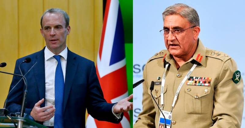 Britain's foreign secy calls on Pakistan Army Chief to discuss Afghan situation