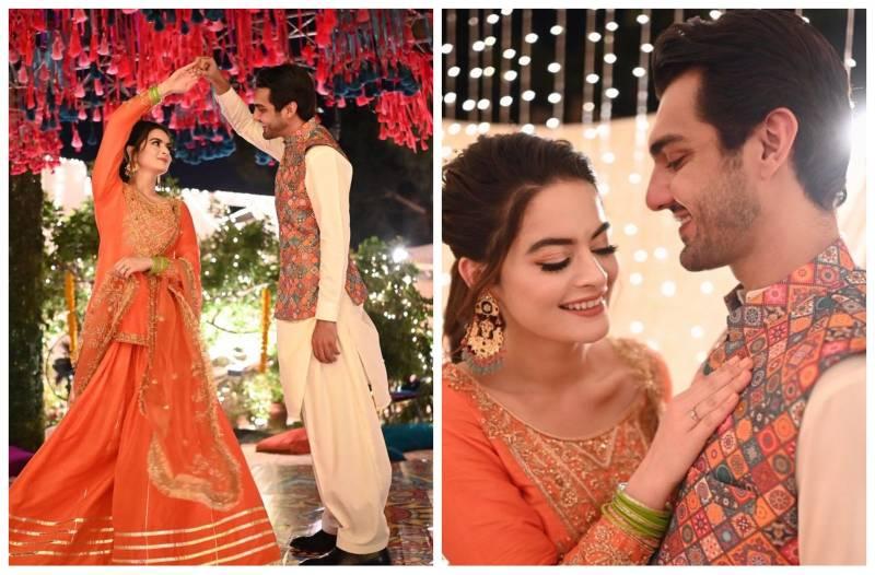 Minal Khan and Ahsan Mohsin's fun-filled dholki wins hearts