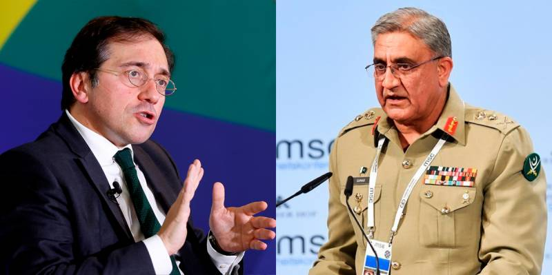 Pakistan Army Chief, Spanish FM discuss Afghan situation, bilateral cooperation