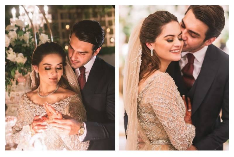 Inside Minal Khan and Ahsan Mohsin Ikram's fairytale reception