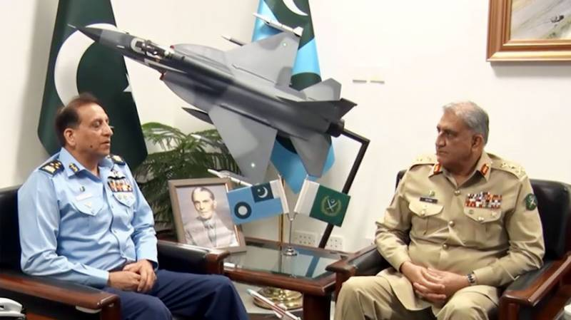 COAS Bajwa visits PAF headquarters to discuss operational matters (VIDEO)