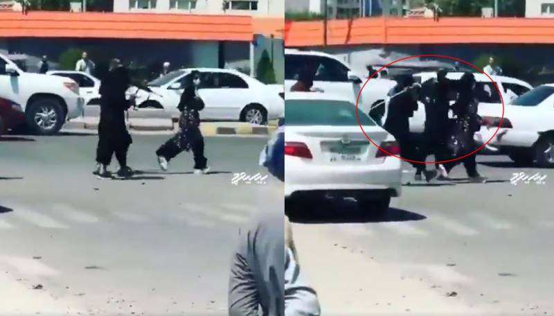 Shocking video of Taliban lashing woman with canes on a busy road goes viral