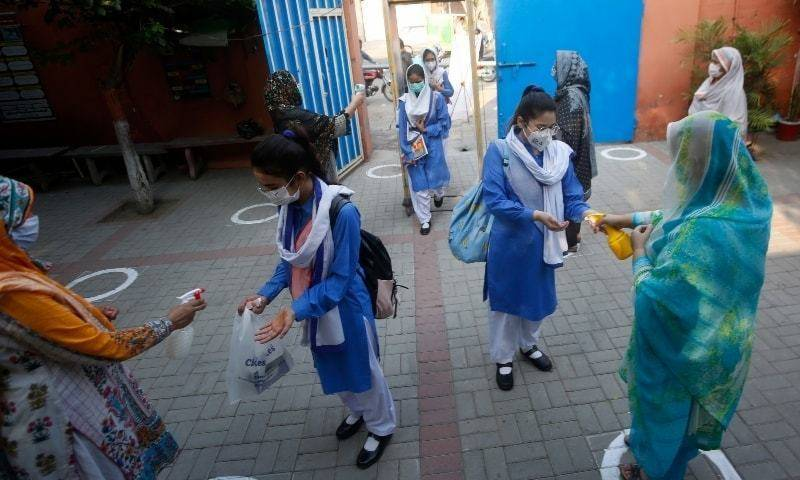 Schools reopen in Punjab, KPK as govt eases Covid restrictions