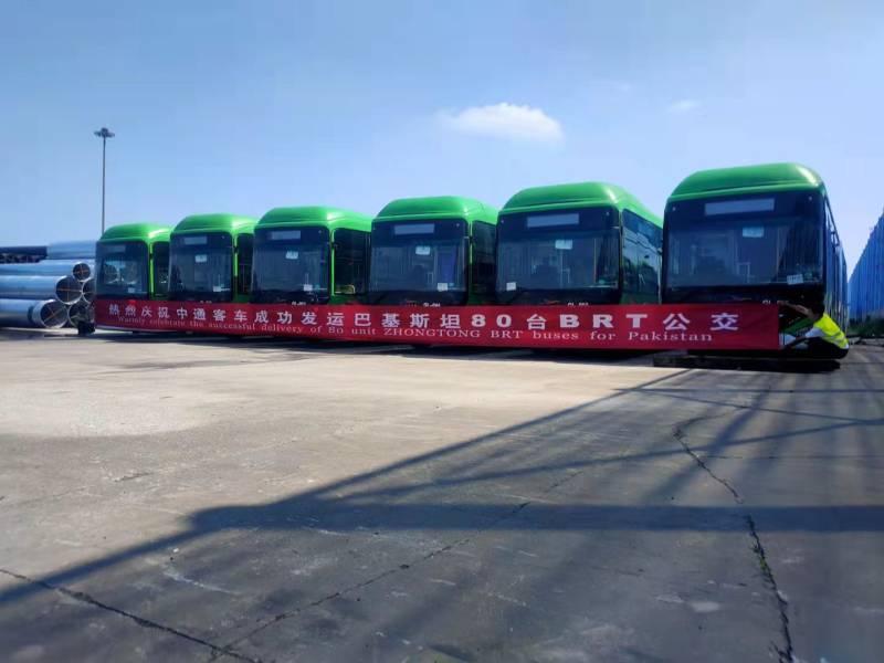 First fleet of Green Line buses arrives at Karachi port