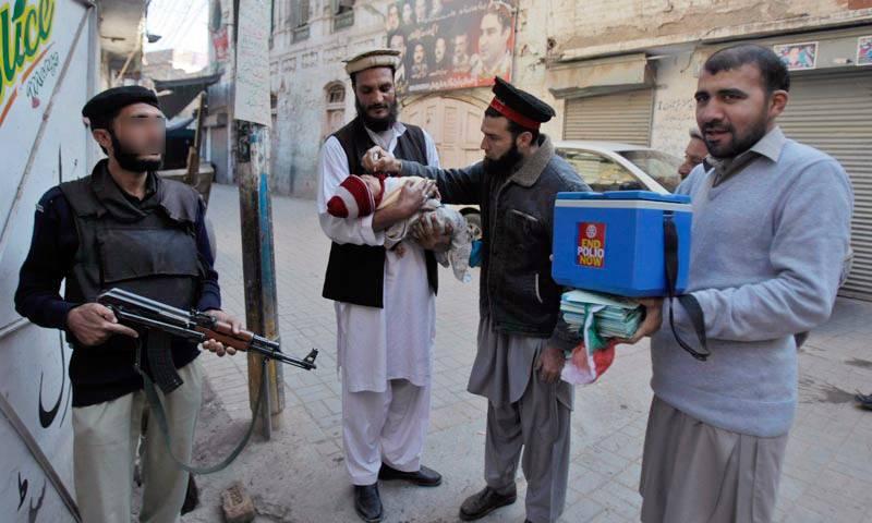 Policeman escorting polio vaccinators shot dead in Kohat