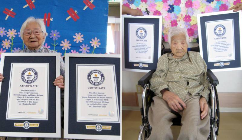 Japanese sisters declared world's oldest twins